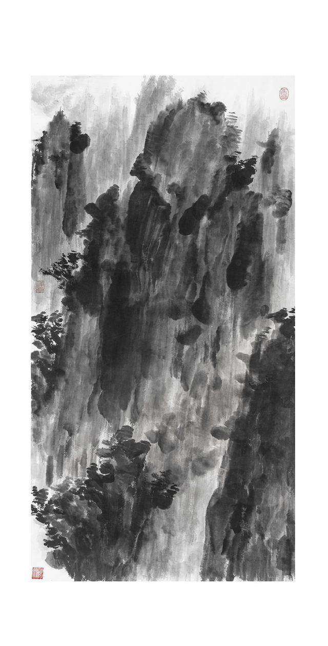 LA CHIAMATA DEL CUORE 16 inchiostro su carta fatta a mano 121.5x245cm