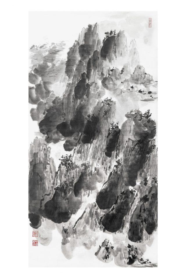 LA CHIAMATA DEL CUORE 8 inchiostro su carta fatta a mano 69x137cm