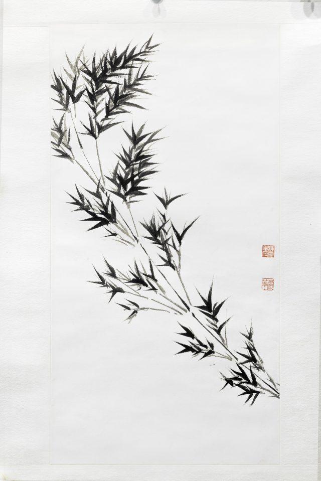 ORIGINI 1 inchiostro su carta fatta a mano 28.5x55.5cm
