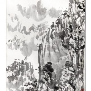 ORIGINI 3 inchiostro su carta fatta a mano 35.5x48cm